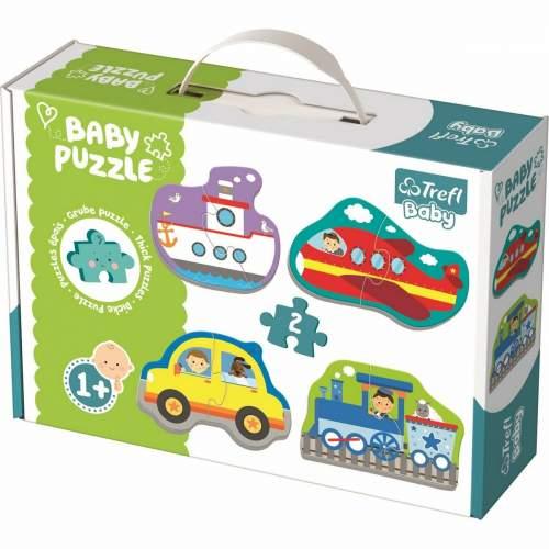 TREFL Puzzle baby Dopravní prostředky 2ks, 12m+
