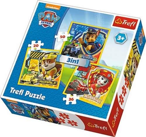 TREFL Puzzle 3v1, 20x20cm 106 dílků