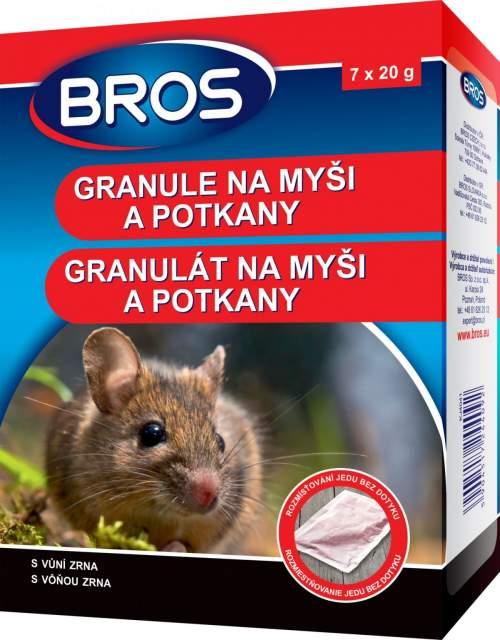 BROS granulát proti myším a potkanům 140 g